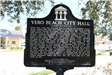 historical marker for city hall