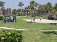 A Vero Beach city park with volleyball court