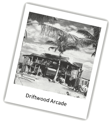 Driftwood Arcade - Building surrounded by palm trees